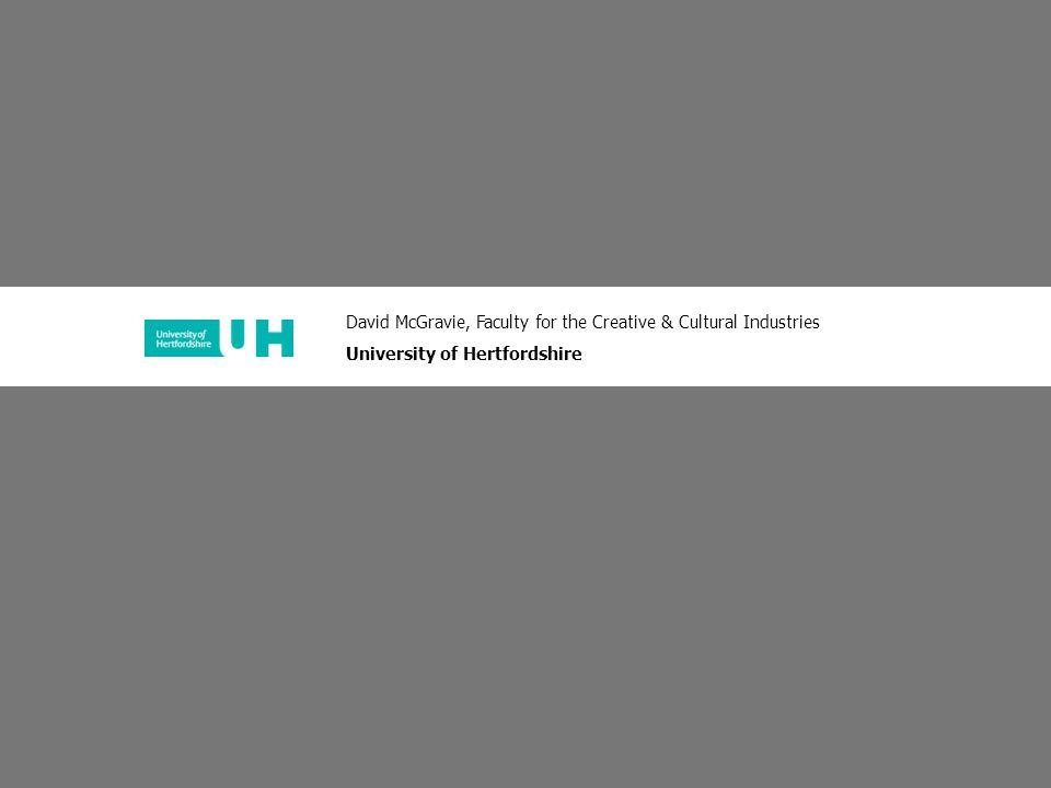 For advice contact: david mcgravie, tel +44 (0)1707 285390 or email d.mcgravie@herts.ac.uk the 'art and design' portfolio…explained