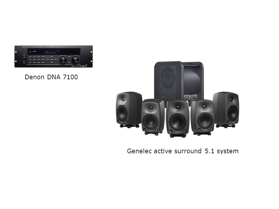 Denon DNA 7100 Genelec active surround 5.1 system