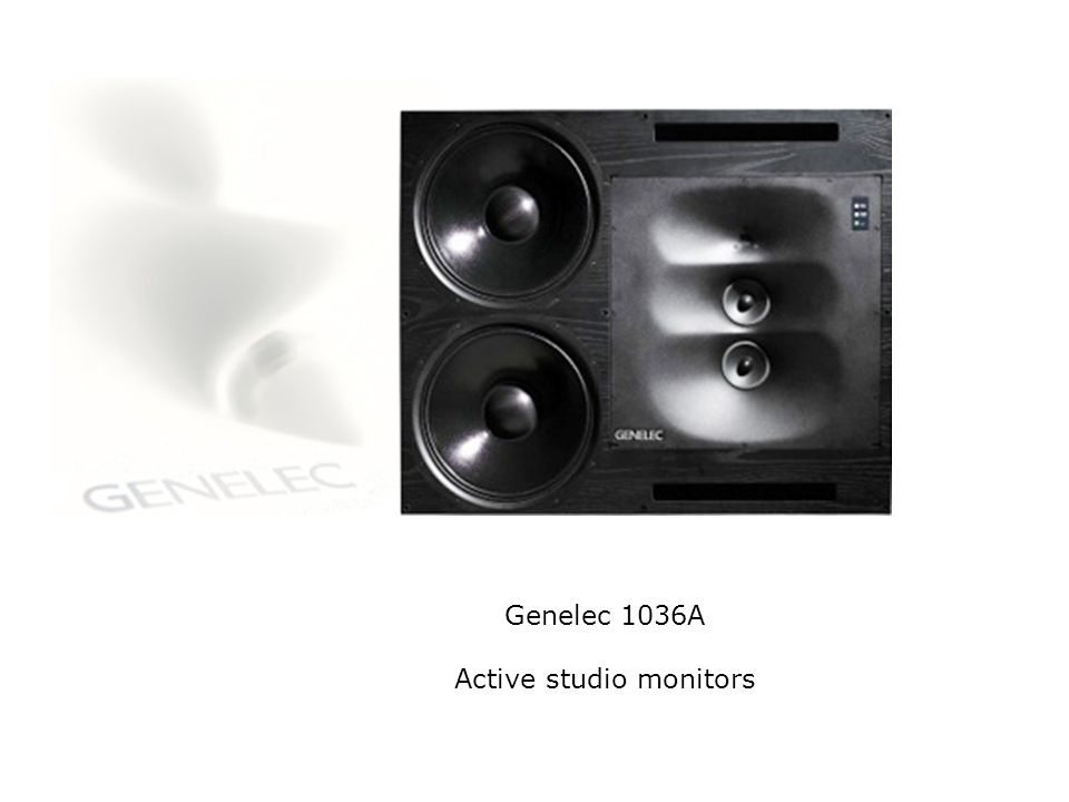 Genelec 1036A Active studio monitors