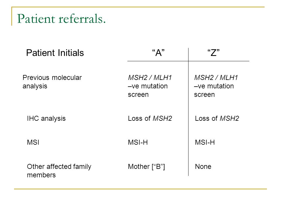 Patient referrals.