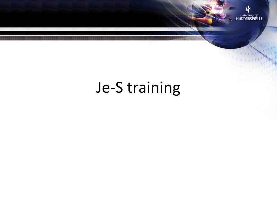 Je-S training