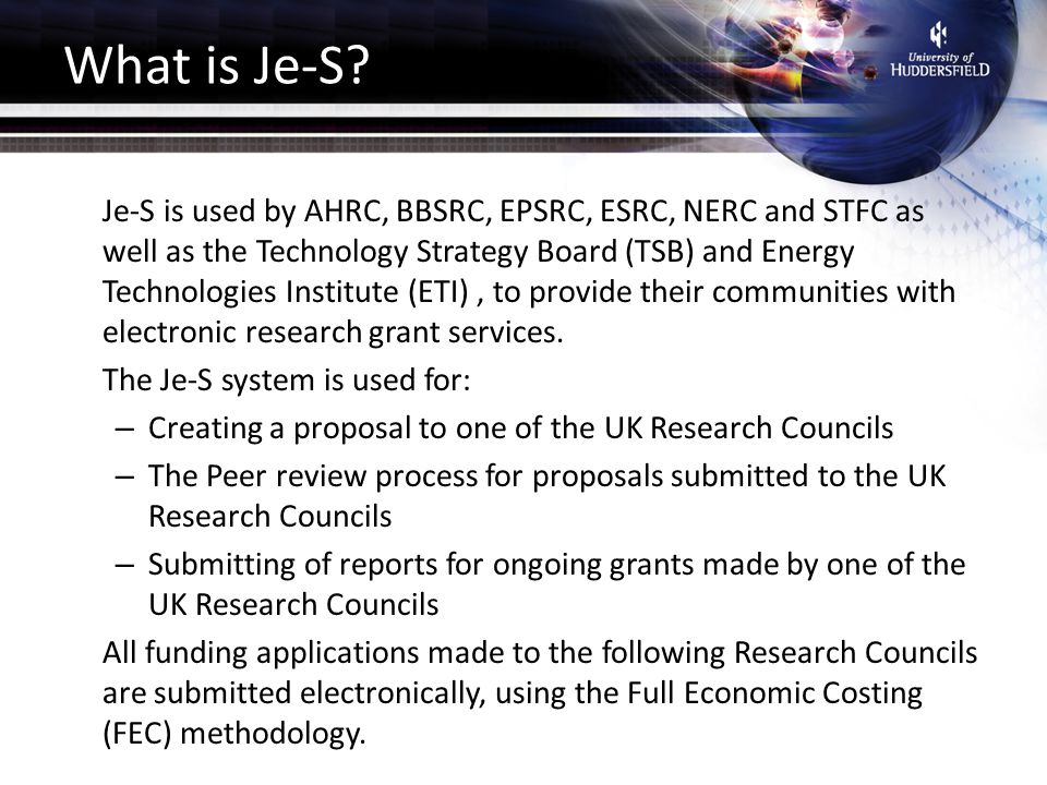What is Je-S.