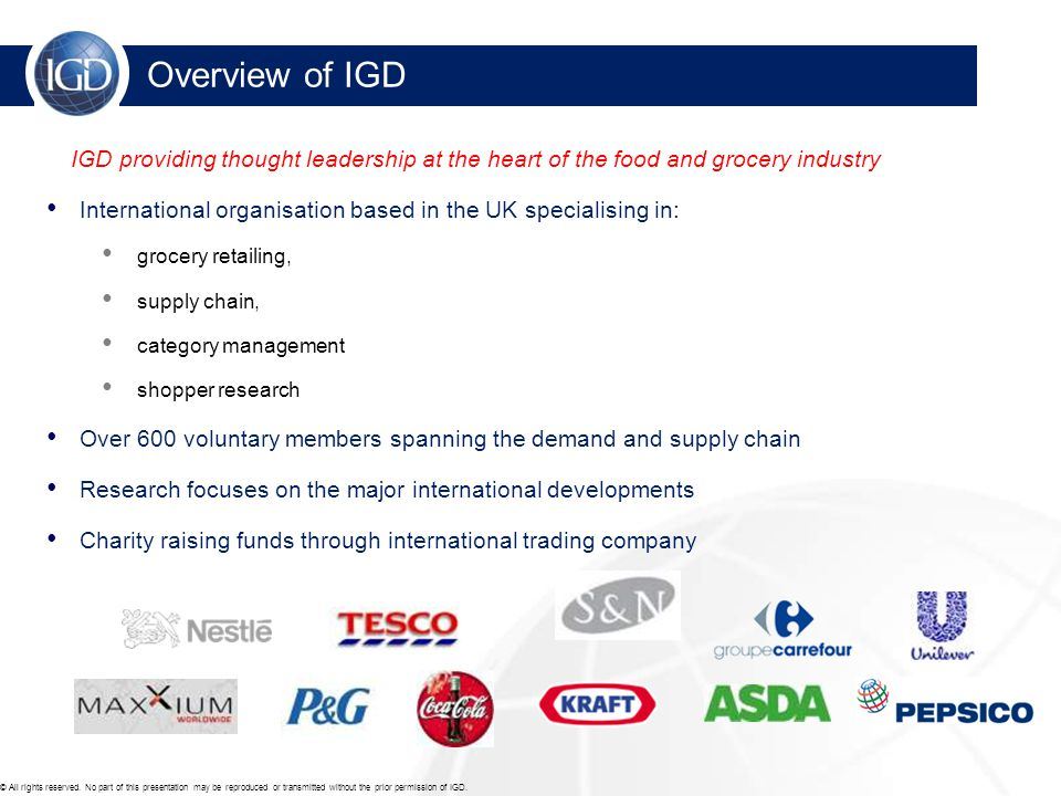 For further information please contact: For more information on IGD commissioned research: http://www.igd.com/bespoke For more information on IGD's Shopper Online: http://www.igd.com/theshopper Gerardine Padbury gerardine.padbury@igd.comgerardine.padbury@igd.com or 01923 851 906