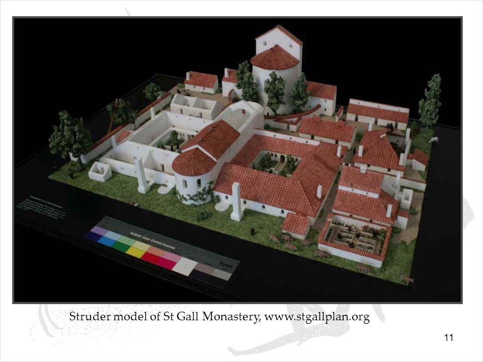 11 Struder model of St Gall Monastery, www.stgallplan.org
