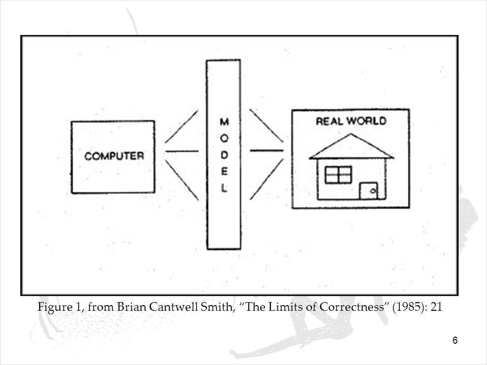 6 Figure 1, from Brian Cantwell Smith, The Limits of Correctness (1985): 21