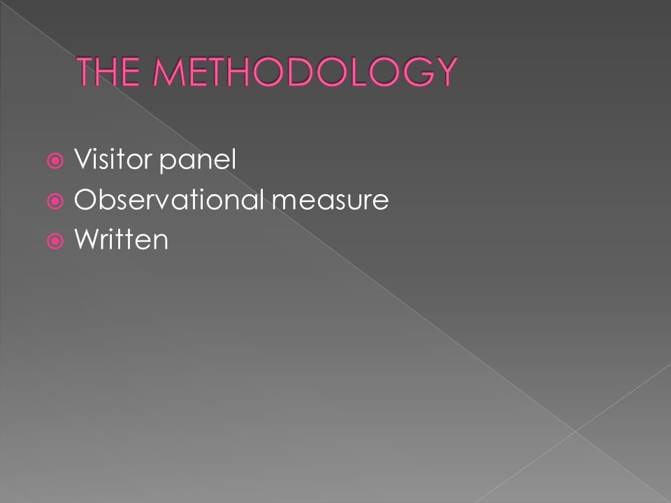  Visitor panel  Observational measure  Written