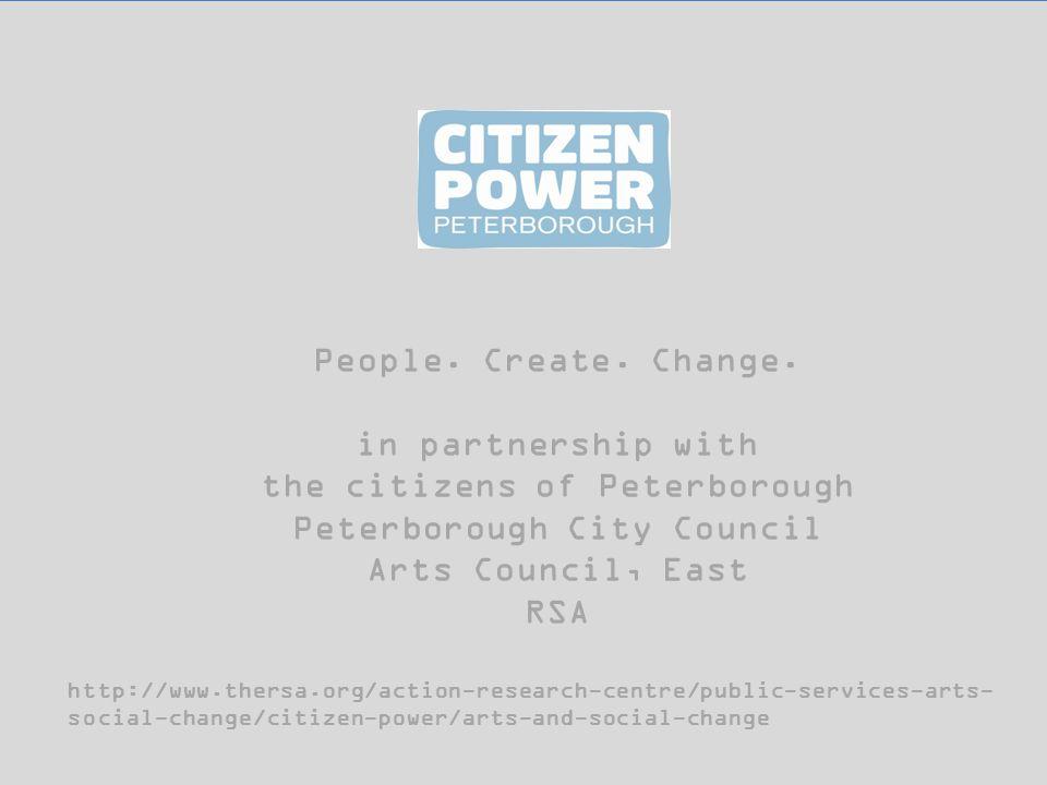 People. Create. Change.