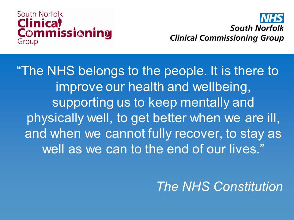 The NHS belongs to the people.