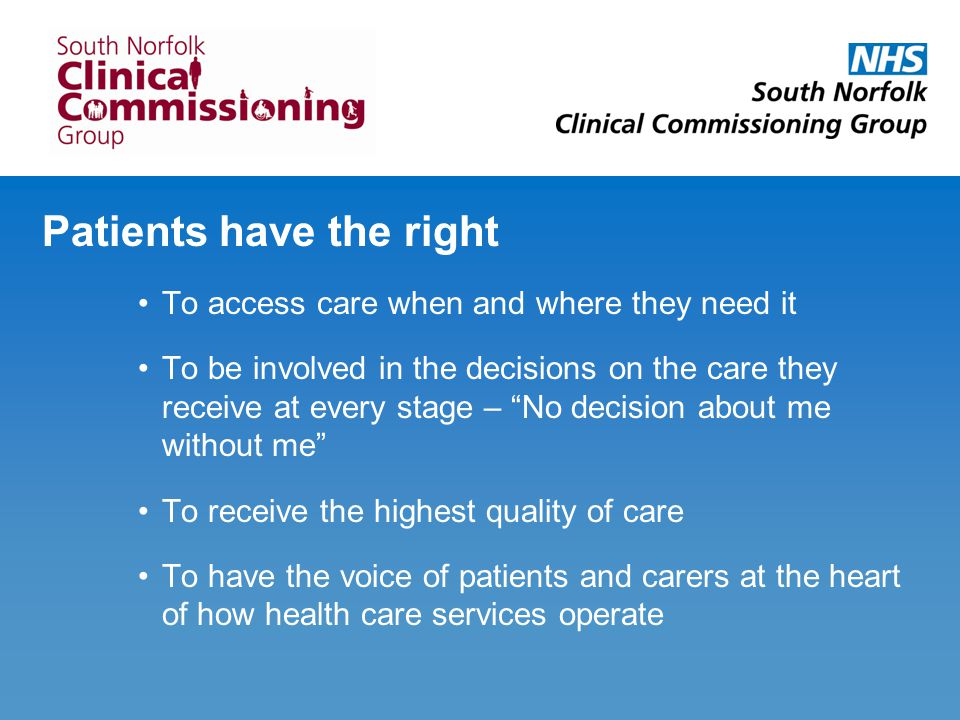The public has an important role too To hold the NHS accountable to the service it provides To be involved in decisions about how local health and social care services operate To provide feedback and opinion on the service you receive