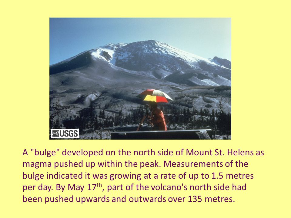 On May 18 th, 1980, at 8:32 a.m.Pacific Daylight Time, a magnitude 5.1 earthquake shook Mount St.