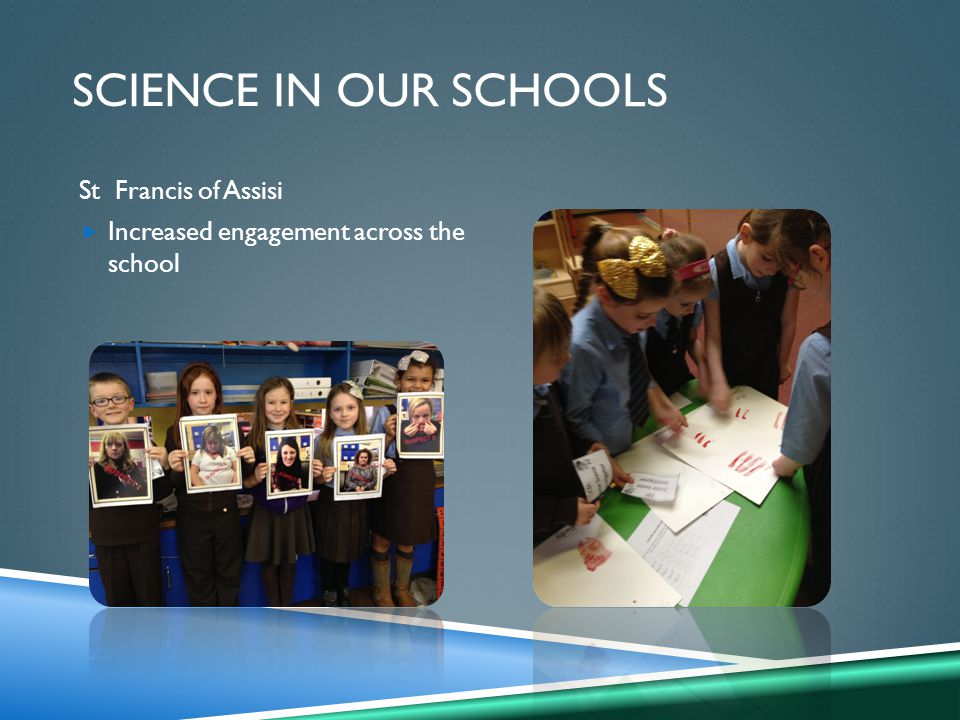 St Francis of Assisi  Increased engagement across the school