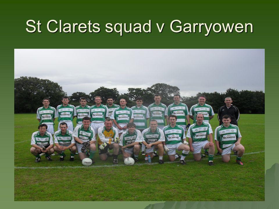 St Clarets squad v Garryowen