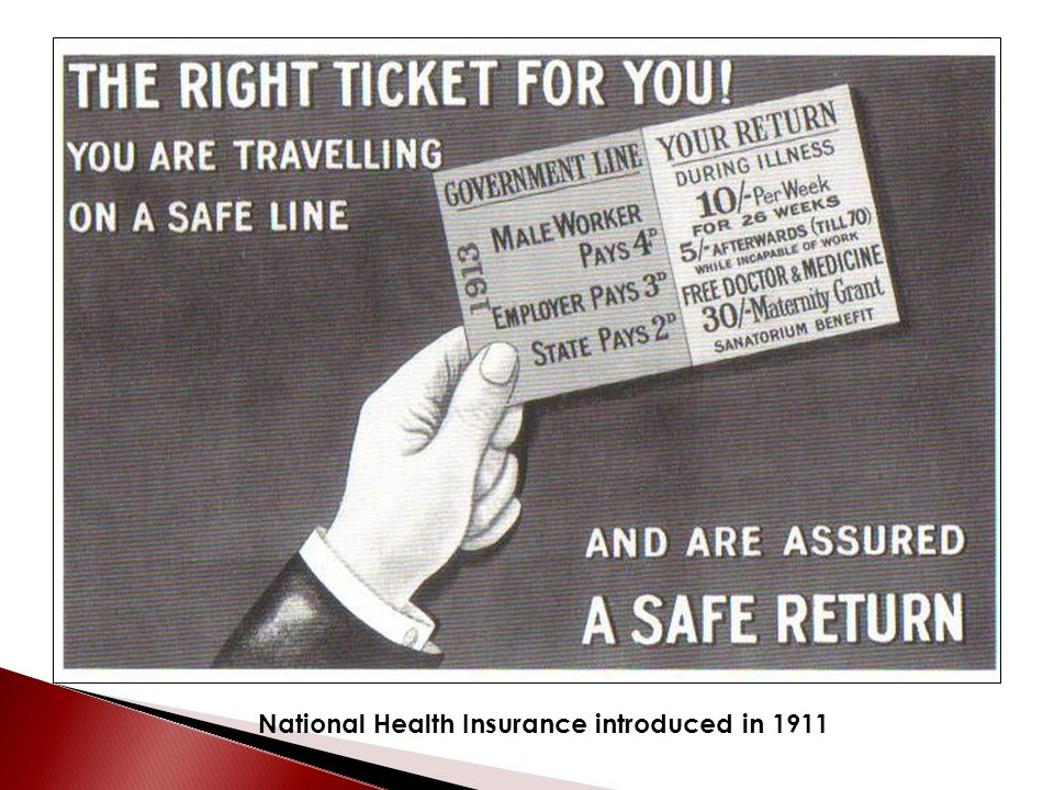 National Health Insurance introduced in 1911