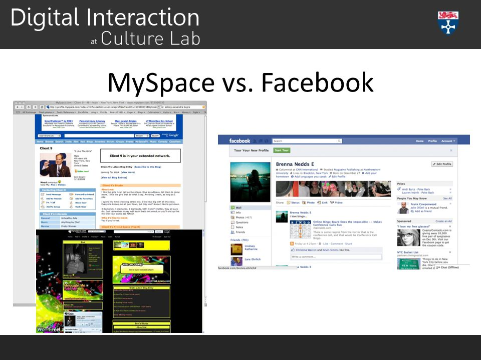 MySpace vs. Facebook