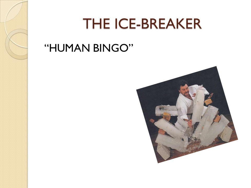 THE ICE-BREAKER HUMAN BINGO