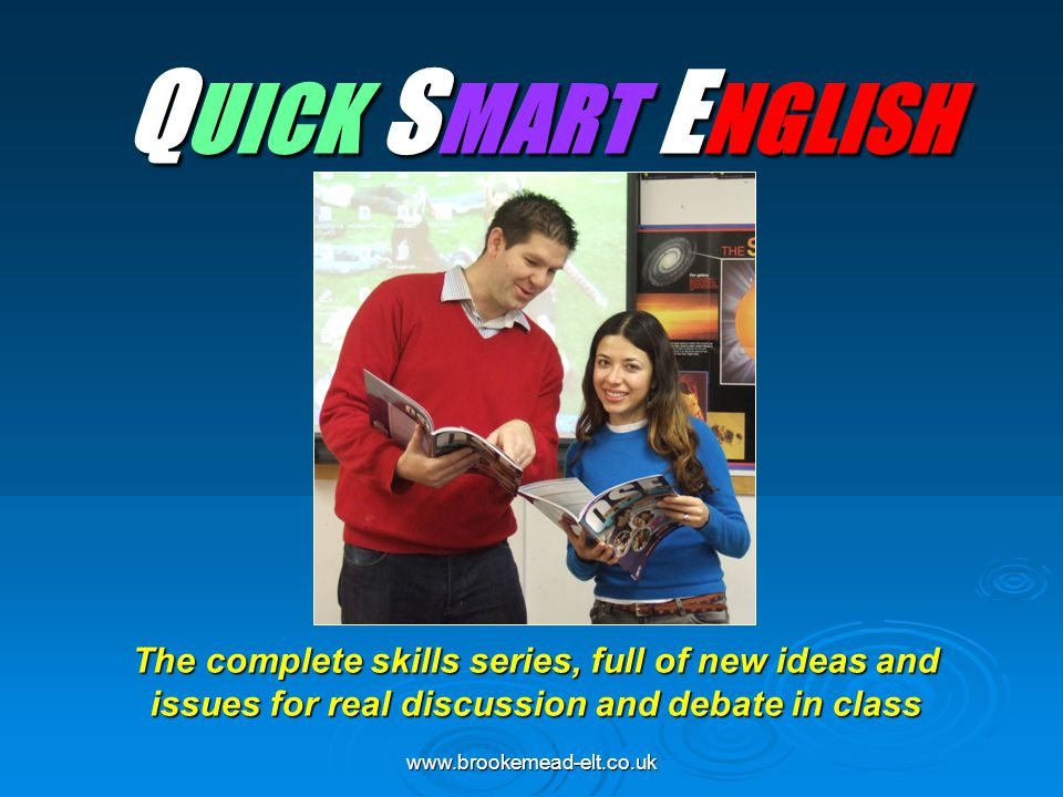 www.brookemead-elt.co.uk QSE - Components QSE - Components QSE PRE-INTERMEDIATE QSE PRE-INTERMEDIATE (CEFR A2-B1) Student Book + CD1&CD2: ISBN 978-1-905248-08-7 Workbook: 978-1-905248-09-4 Split Editions Student's Book + Workbook PART A* (Units 0-8) 978-1-905248-36-0 PART B* (Units 9-17) 978-1-905248-37-7 Teacher's Guide & Photocopiable resources, Exams, tests: ISBN 978-1-905248-15-5 QSE INTERMEDIATE QSE INTERMEDIATE (CEFR B1-B2) Student Book + CD1&CD2: ISBN 978-1-905248-04-9 Workbook: 978-1-905248-05-6 Split Editions Student's Book + Workbook PART A* (Units 0-9) 978-1-905248-29-2 PART B* (Units 10-18) 978-1-905248-30-8 Teacher's Guide & Photocopiable resources, Exams, tests: ISBN 978-1-905248-19-3 QSE ADVANCED QSE ADVANCED (CEFR B2-C1) Student Book & Workbook (combined)+ DVD: ISBN 978-1-905248-00-1 Teacher's Guide and Photocopiable resources, Exams: ISBN 978-1-905248-26-1 Student's Audio CD: ISBN 978-1-905248-22-3 Exam Practice Audio CD (CAE, IELTS, IGCSE): ISBN 978-1-905248-31-5 * Books without CDs