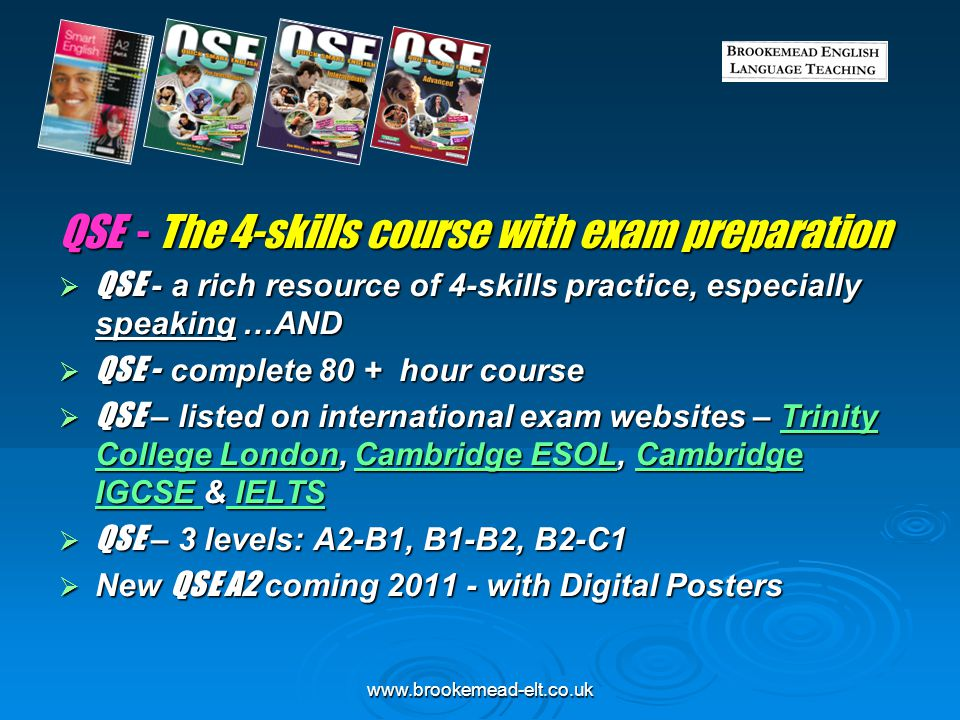 www.brookemead-elt.co.uk QSE - Trinity syllabus, Materials maps
