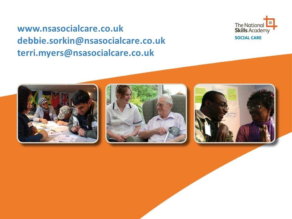 www.nsasocialcare.co.uk debbie.sorkin@nsasocialcare.co.uk terri.myers@nsasocialcare.co.uk