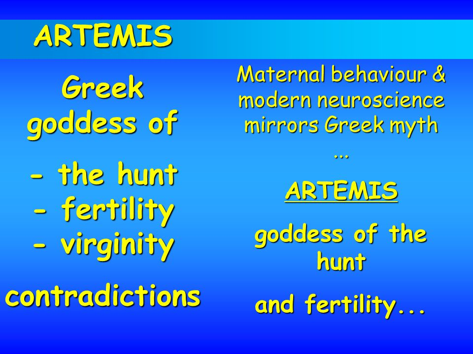 Maternal behaviour & modern neuroscience mirrors Greek myth...