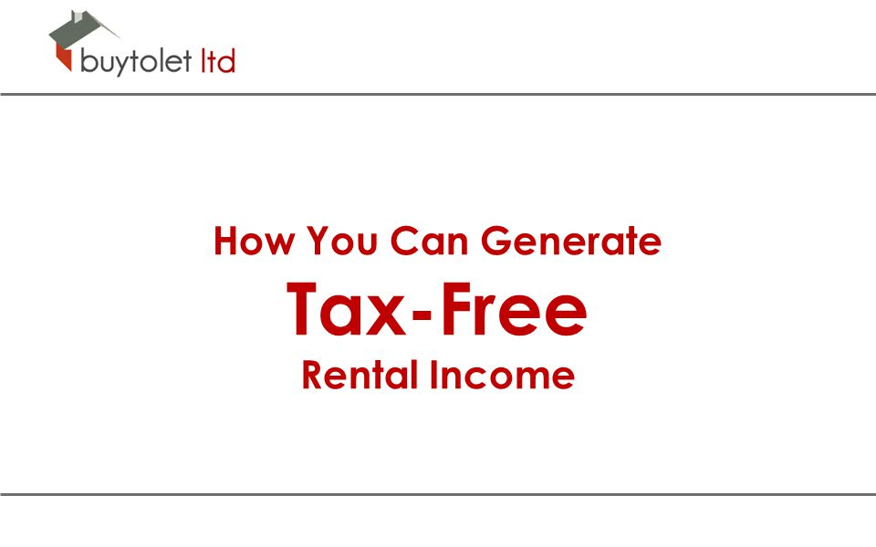 How You Can Generate Tax-Free Rental Income