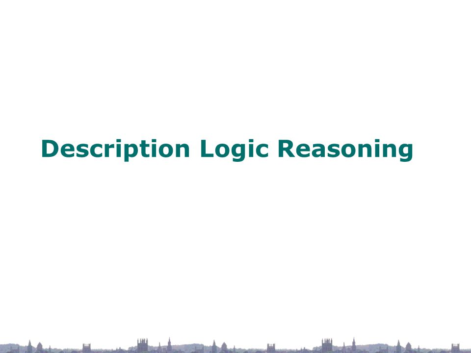 Description Logic Reasoning