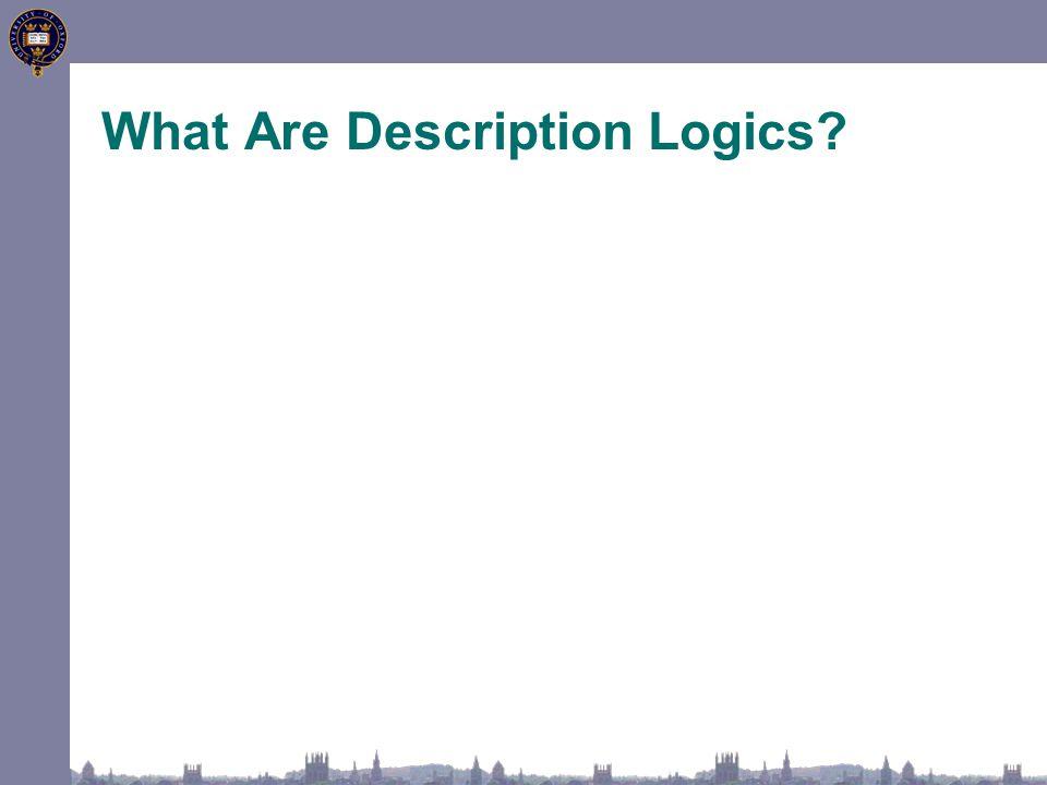 What Are Description Logics