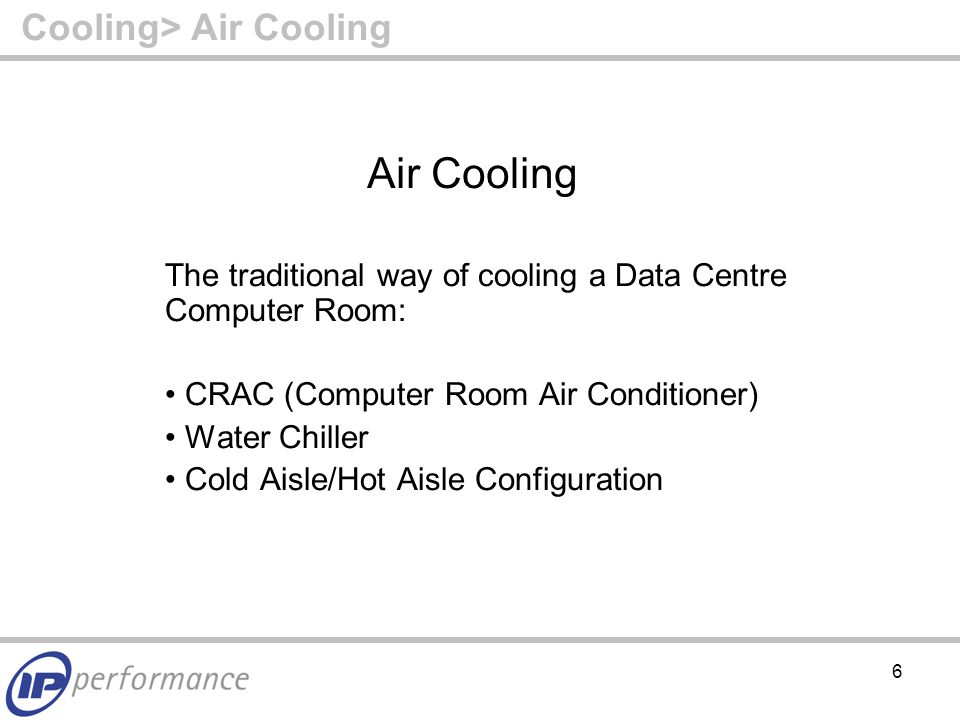 37 Summary Summary – Cooling (Cont'd) If deploying high-density bladeservers/virtualisation, consider water-cooling (max kW/hr cooling rises from 5- 10kW/hr to 30kW/hr) Targeted control Even distribution of cooling Full (42u) rack utilisation Zero thermal footprint – design flexibility Remember free air cooling reduces costs further Real Estate savings