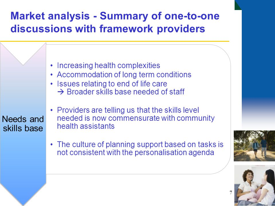 Market analysis - Summary of one-to-one discussions with framework providers 8 Viability Few providers on the framework are willing to offer contract hours – majority are zero based Many providers are embracing technology with an increased use of electronic monitoring, but at a cost.