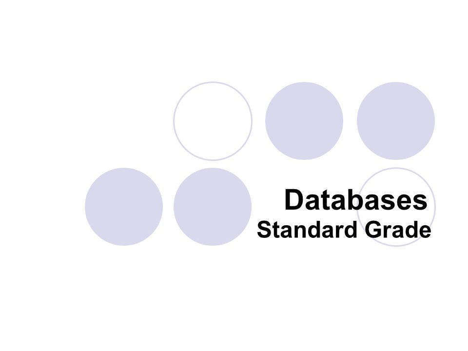 Standard Grade Databases