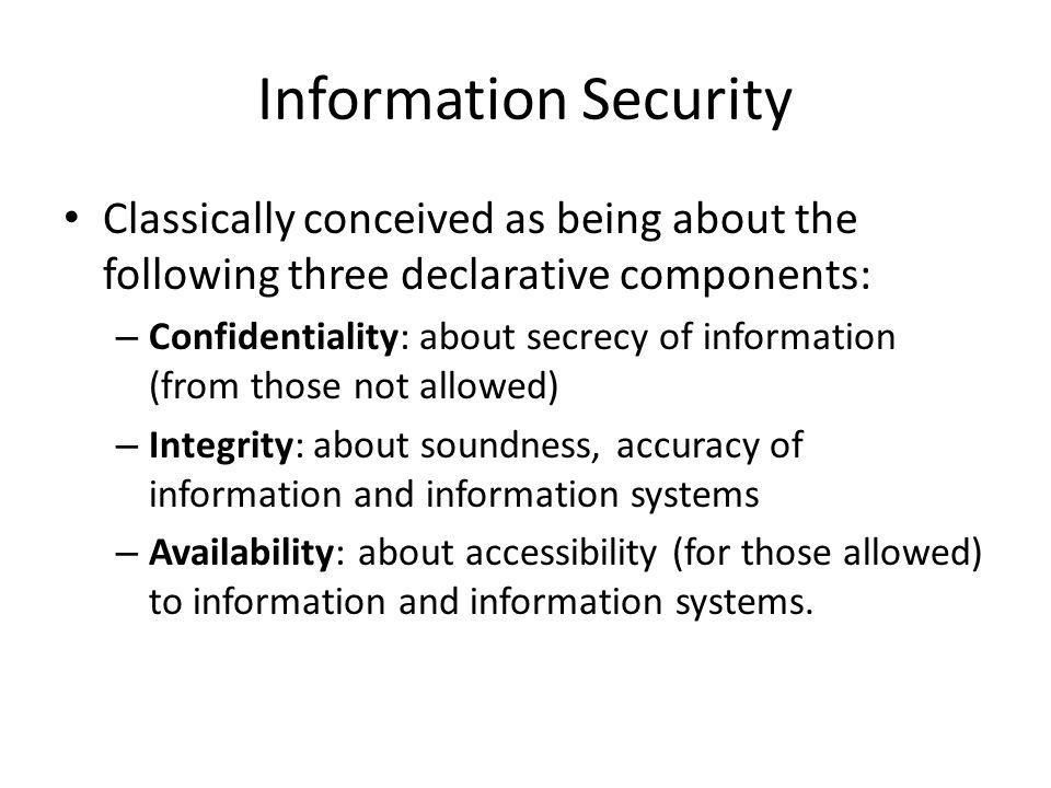 What's the Solution.Encryption. It's the obvious policy solution How to implement.