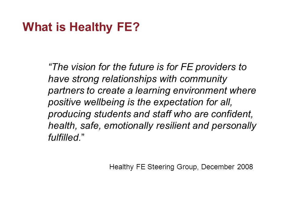 What is Healthy FE.