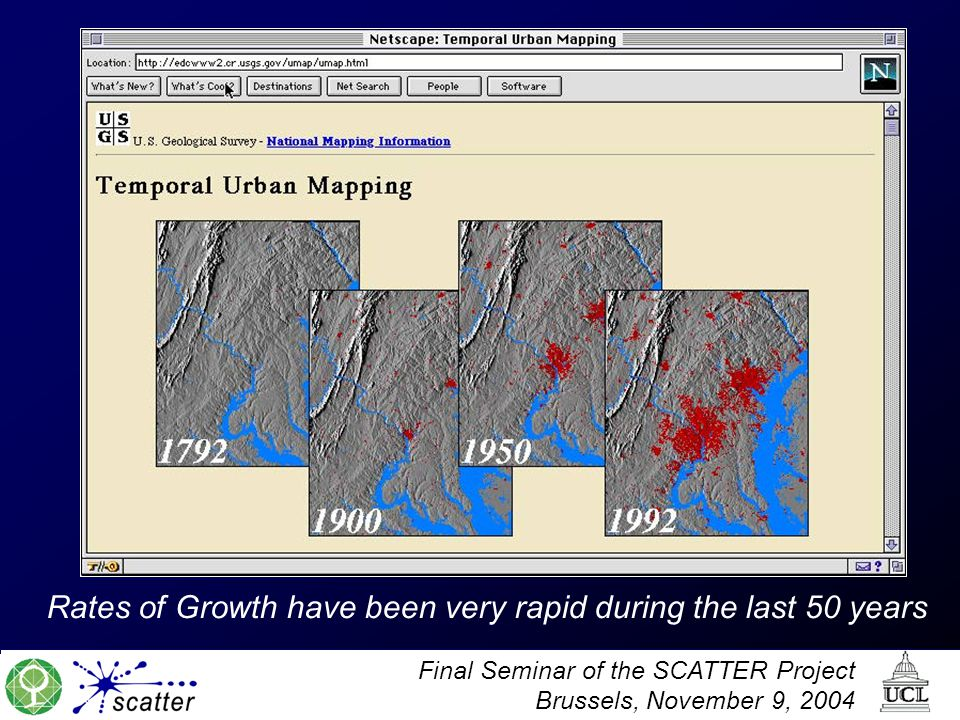 Final Seminar of the SCATTER Project Brussels, November 9, 2004 Rates of Growth have been very rapid during the last 50 years