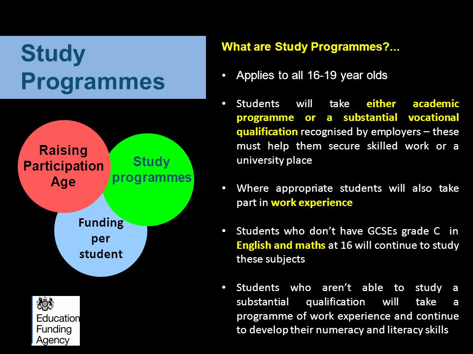 What are Study Programmes ...