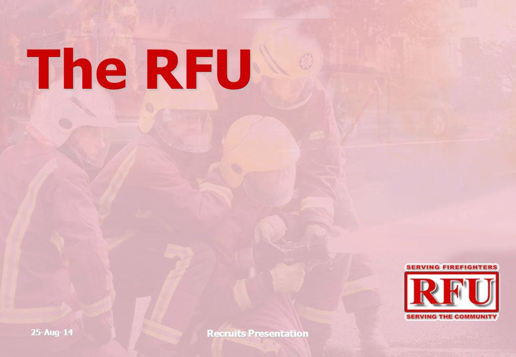 25-Aug-14 Recruits Presentation The RFU