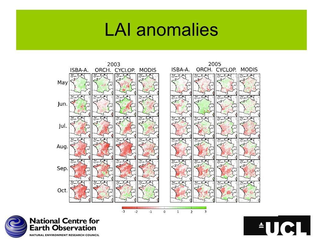 LAI anomalies