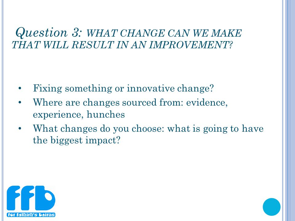 Fixing something or innovative change.