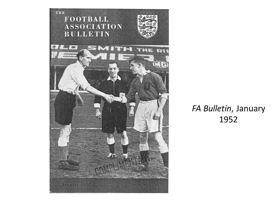 FA Bulletin, January 1952