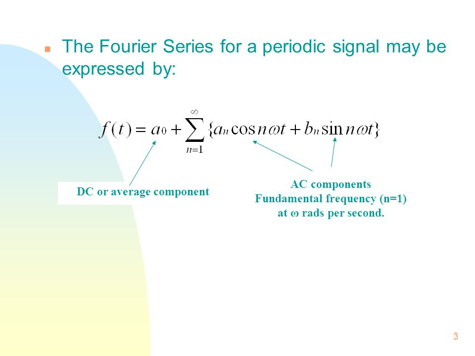 24 n Harmonics occur at intervals of f = OR f, 2f, 3f, etc.