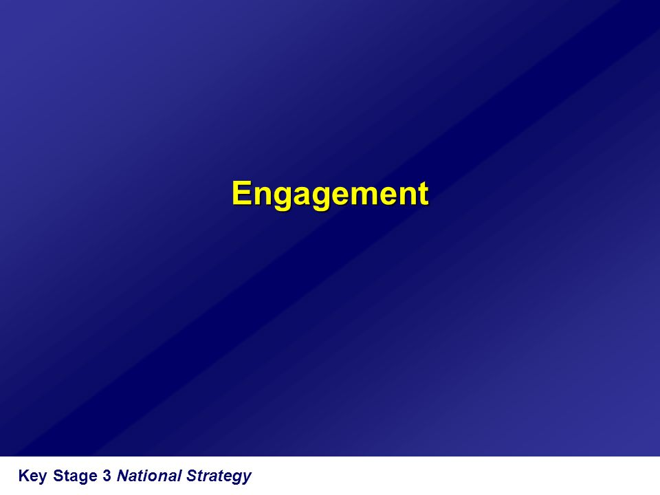 Key Stage 3 National Strategy Engagement
