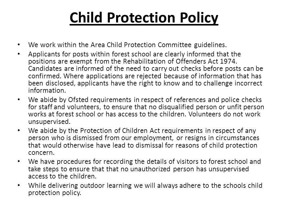 Confidentiality policy We aim to ensure that all parents and carers can share their information in the confidence that it will only be used to enhance the welfare of their children.