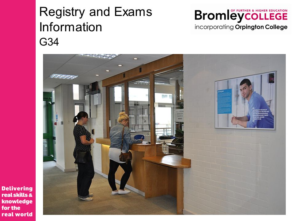 Registry and Exams Information G34