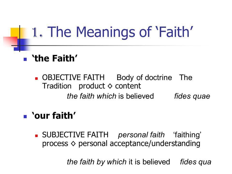 2. 'our faith' believing trusting, valuing doing context dialogue development