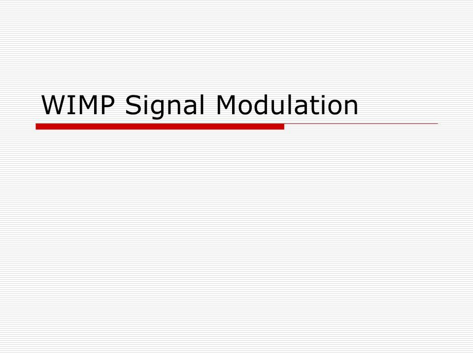 WIMP Signal Modulation