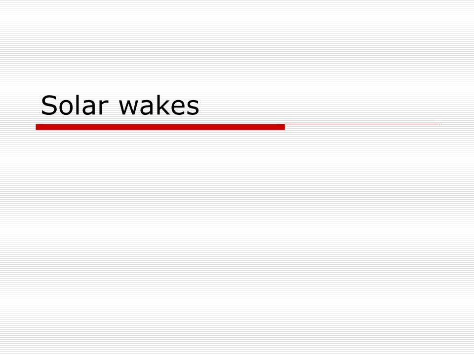 Solar wakes