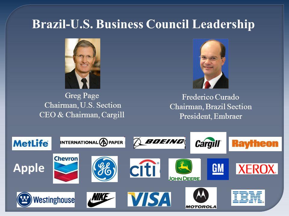 Brazil-U.S. Business Council Leadership Greg Page Chairman, U.S.