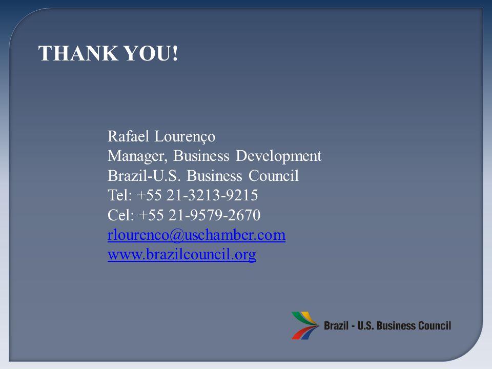 Rafael Lourenço Manager, Business Development Brazil-U.S.