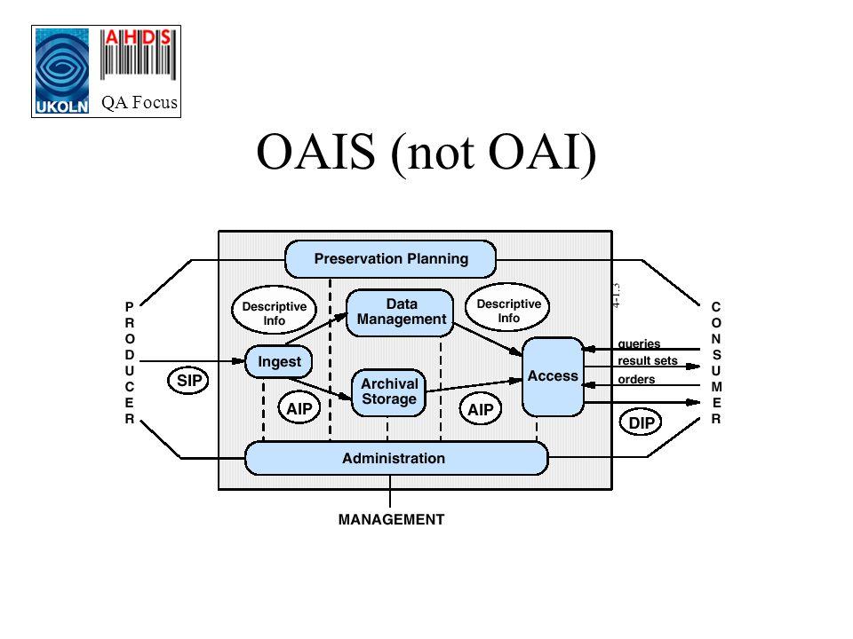 QA Focus OAIS (not OAI)
