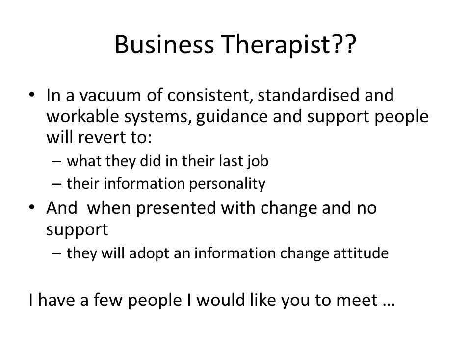 Business Therapist .