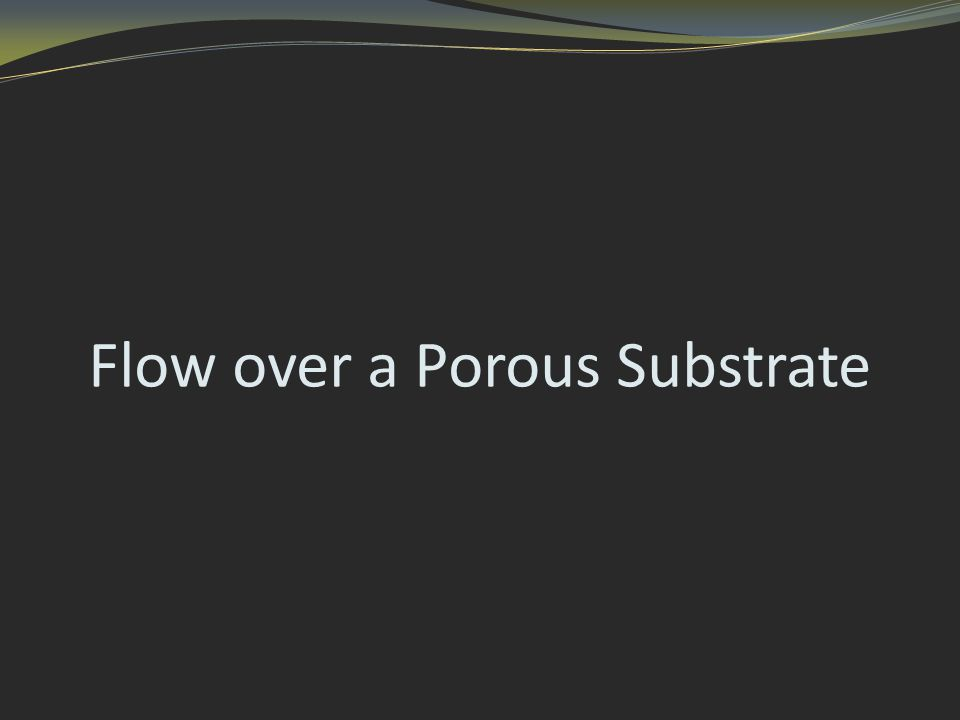 Flow over a Porous Substrate