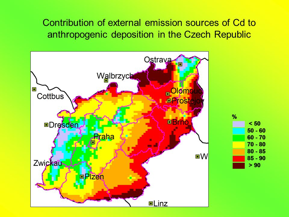Contribution of external emission sources of Cd to anthropogenic deposition in the Czech Republic